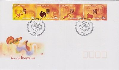 (K90-90) 2006 Christmas Island FDC $1.00 year of the Rooster (CO)