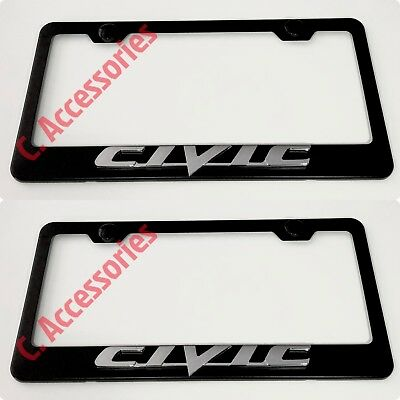 SPORT Supercharge Land Rover 3D Emblem Black Stainless License Plate Frame
