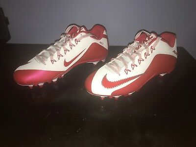 37d385de0 Nike Alpha Pro 2 TD Promo Football Cleats Red White 719930-166 BRAND NEW
