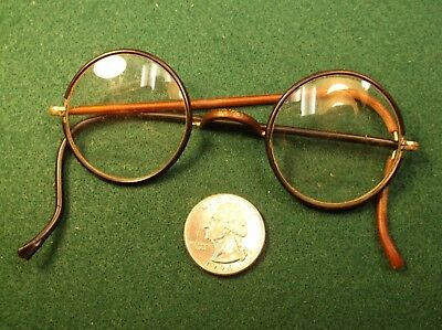 "Beautiful Pair Of Vtg Antique Yellow Gold Filled ""harry Potter"" Style Eyeglasses"