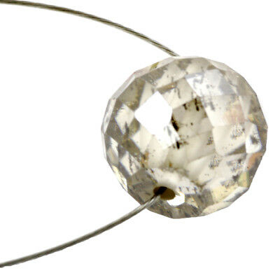 Certified Champagne Faceted Diamond Loose Bead for Jewelry Making- 7.95 Ct-11MM