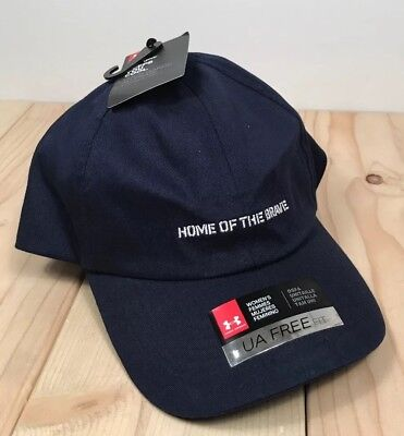 """Under Armour Womens  """"HOME OF THE BRAVE""""  Adjustable Hat New With Tags $24"""