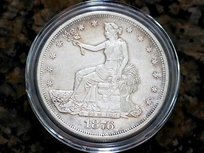 1876-S Trade Dollar in Capsule 90% Silver, No Reserve & Free Shipping!