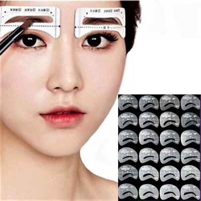 Thrush card Grooming Brow Stencils Eyebrow Template Stickers 24 pcs 1 Set