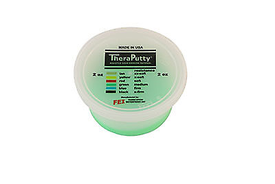 CanDo Scented Theraputty Exercise Material - 2 oz - Apple - Green - Medium