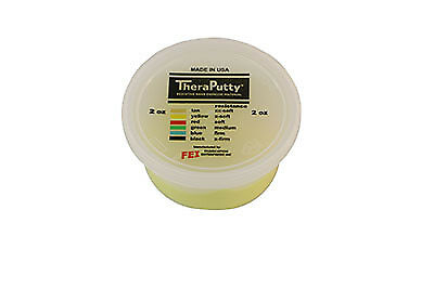 CanDo Scented Theraputty Exercise Material - 2 oz - Banana - Yellow - X-Soft