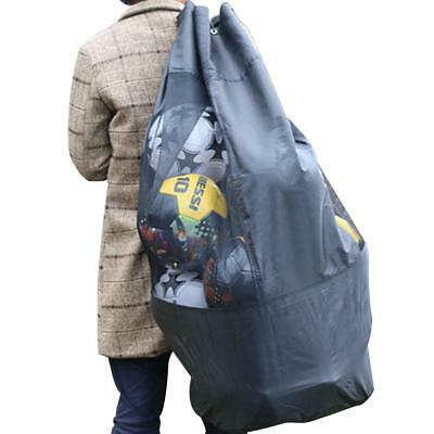 Large Football Basketball Storage Bag Draw Cord Carrying Net Bags for 10 Balls