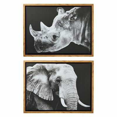 NEW Amalfi Wild Safari Framed Print (Set of 4)