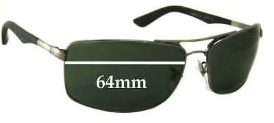 SFx Replacement Sunglass Lenses fits Ray Ban RB3465 - 64mm Wide