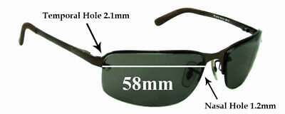 396029c16f SFx Replacement Sunglass Lenses fits Ray Ban RB3239 - 58mm wide