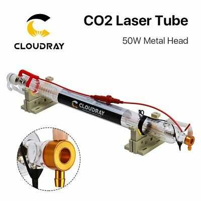 CO2 Laser Tube 50W Metal Head 1000mm Glass Pipe for Engraving Cutting Machine