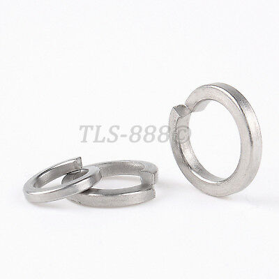 SUS201 Stainless - Spring Coil Split Lock Washers M3,4,5,6,8,10,12,14,16,18,20mm