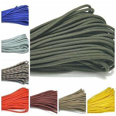 550 Paracord Parachute Cord Lanyard Mil Spec Type III 7 Strand Core 100FT