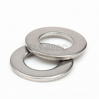 M3 M4 M5 M6 M8 M10 M12 Flat Washers To Fit Metric Bolts Screws SUS201 Stainless