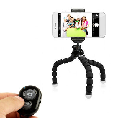 Octopus Tripod Flexible Bluetooth self-timer Stand Sponge For Cellphone Camera*