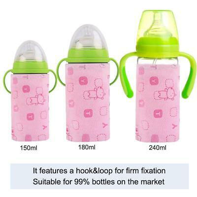 USB Baby Bottle Warmer Outdoor Portable Milk Heating Warmer Insulation Cover AU