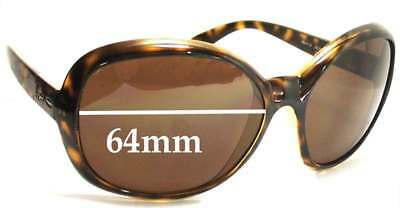4d43738d240bd SFx Replacement Sunglass Lenses fits Ray Ban RB4113 Jackie Ohh III - 64mm  Wide l