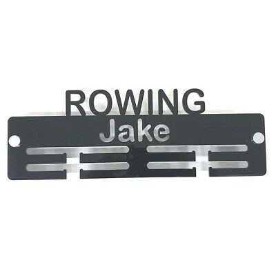 Personalised Rowing Medal Hanger - Many Colour Choices - Includes Fixings