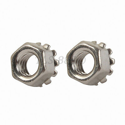 M3,4,5,6,8,10,12mm Hex Keps K-L Lock Nut External Tooth Washer Nuts -Zinc Plated