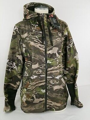 546ccf42acc9f Under Armour Women's Forest Camo Early Season Hunting Full Zip Hoodie XXL  $120