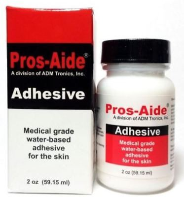 PROS AIDE, Made in USA, 60 ml, Body Glue, Body Adhesive, Glitter Tattoo Glue
