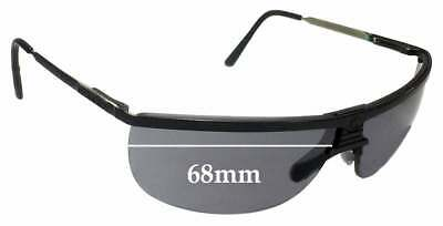 99c9f104e0 SFX REPLACEMENT SUNGLASS Lenses fits Gargoyles Legend - 68mm wide ...