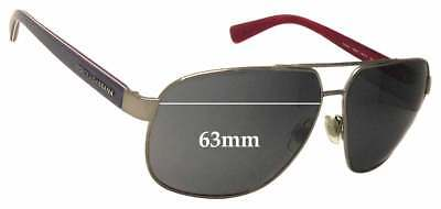 SFx Replacement Sunglass Lenses fits Dolce & Gabbana DG2140 - 63mm Wide