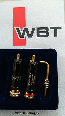 WBT-0102 Cu NextGen RCA Plugs - Red/White pair with T6 Key & WBT Silver Solder