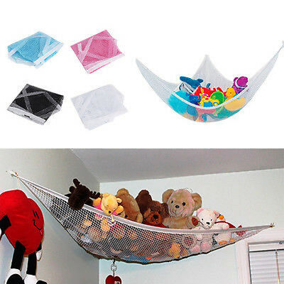 lot Toy Teddy Hammock Mesh Baby Kids Childs Bedroom Tidy Storage Nursery Net Bag