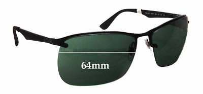 0829f1446e718 SFX REPLACEMENT SUNGLASS Lenses fits Ray Ban RB4054 - 64mm Wide ...