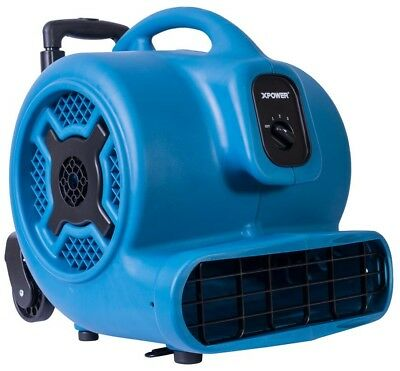 XPOWER 1 HP 3600 CFM 3 Speed Air Mover Carpet Dryer Floor Fan Blower with and