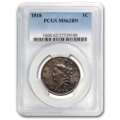 1818 Large Cent MS-62 PCGS (Brown) - SKU#29181
