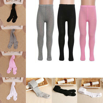 Girls Kids Warm Knitted Cotton Hosiery Pantyhose Pant Stocking Sock Tights Black