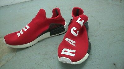 0fc479c633792 Adidas X Pharrell Williams NMD Hu Race Scarlet Red UK 11.5 Human Shoes