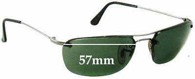 e5e4140bf78 SFx Replacement Sunglass Lenses fits Ray Ban RB3156 - 57mm Wide - 35mm Tall