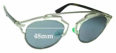 6673e934f7a0 SFx Replacement Sunglass Lenses fits Christian Dior So Real - 48mm Wide
