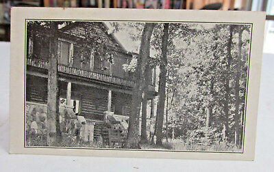 1920s-30 Boy Scouts  ANTHONY WAYNE COUNCIL,Limber lost Cabin Rome City In card