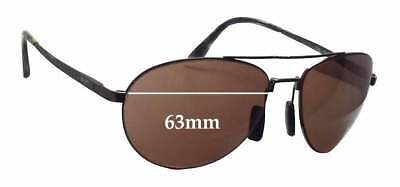 SFx Replacement Sunglass Lenses fits Maui Jim Pilot MJ210 - 63mm wide