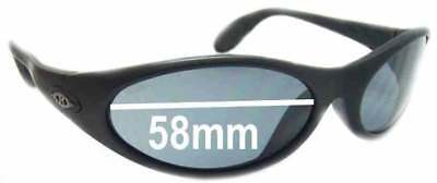SFx Replacement Sunglass Lenses fits Killer Loop The Fix K1110 - 58mm wide