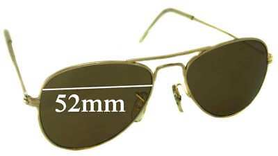 74676f6a850 SFx Replacement Sunglass Lenses fits Ray Ban Aviators Bausch Lomb USA 52mm  Wide