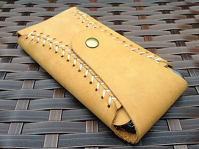 Genuine Real Leather Luxury HandMade Vintage Brown Pouch Case For iPhone 5 5S SE