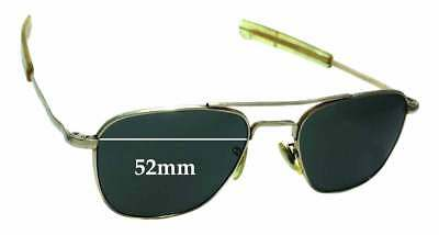 SFx Replacement Sunglass Lenses fits American Optical 5 1/2 Aviator - 52mm wide