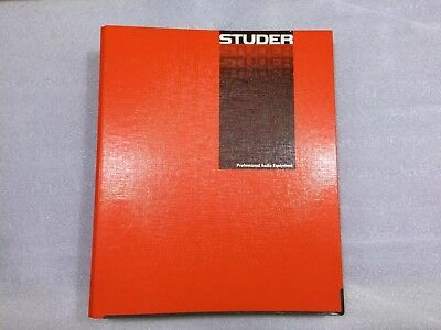 Studer 961/962 Operating And Service Instructions Original Manual-Guide Book