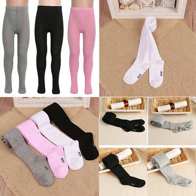Kids Girls Warm Knitted Cotton Hosiery Pantyhose Pant Stocking Sock Tights Black