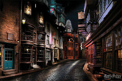"""HARRY POTTER - MOVIE POSTER / PRINT (DIAGON ALLEY) (SIZE: 36"""" x 24"""")"""