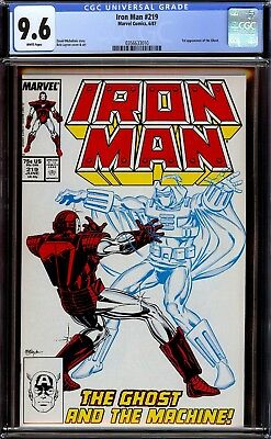 Iron Man #219 and #220...both CGC 9.6 White...First appearance of the Ghost