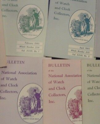 NAWCC BULLETIN National Association of Watch Collector 5 of 1985 missing 236
