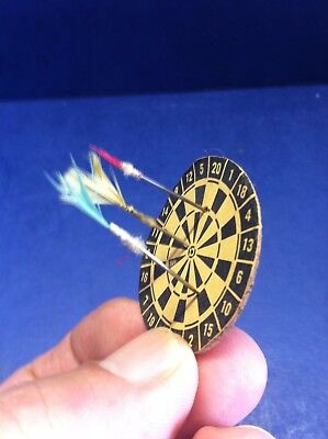 Miniature Dart Board with Darts