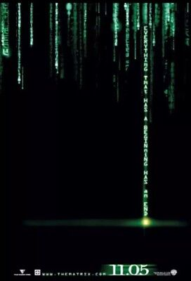 The Matrix Reloaded Original Movie Poster Holofoil Reflective 27 x 40 S//S Reeves
