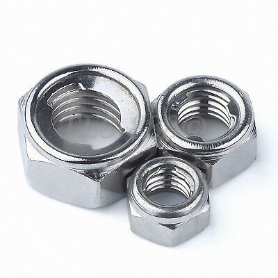 M3 M4 M5 M6 M8 M10 M12 M14 M16 M18 M20 Metal Self Locking Nuts A2 304 Stainless
